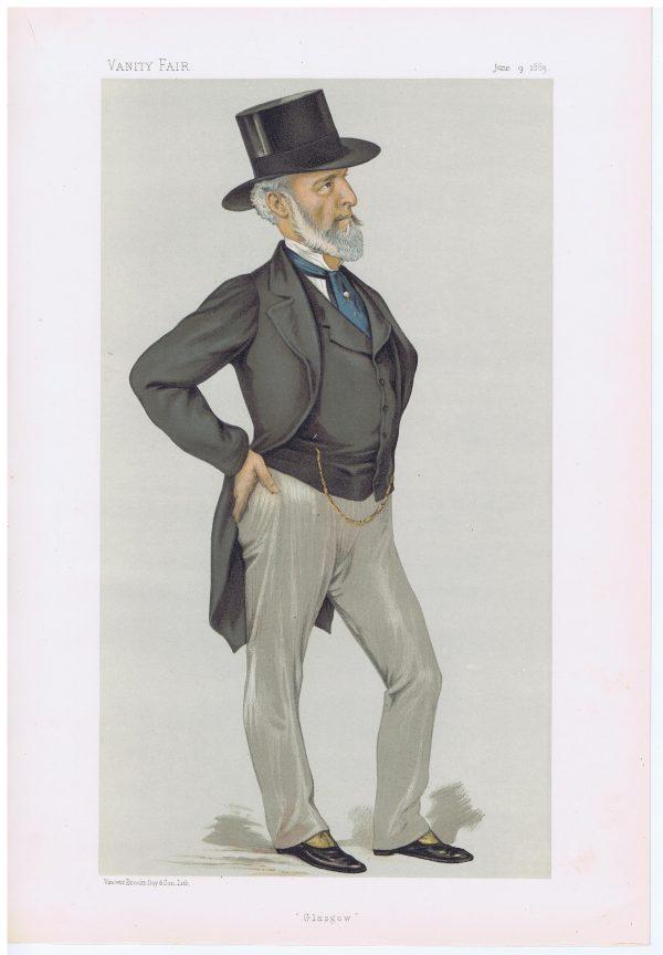 Charles Tennant Original Vanity Fair Print