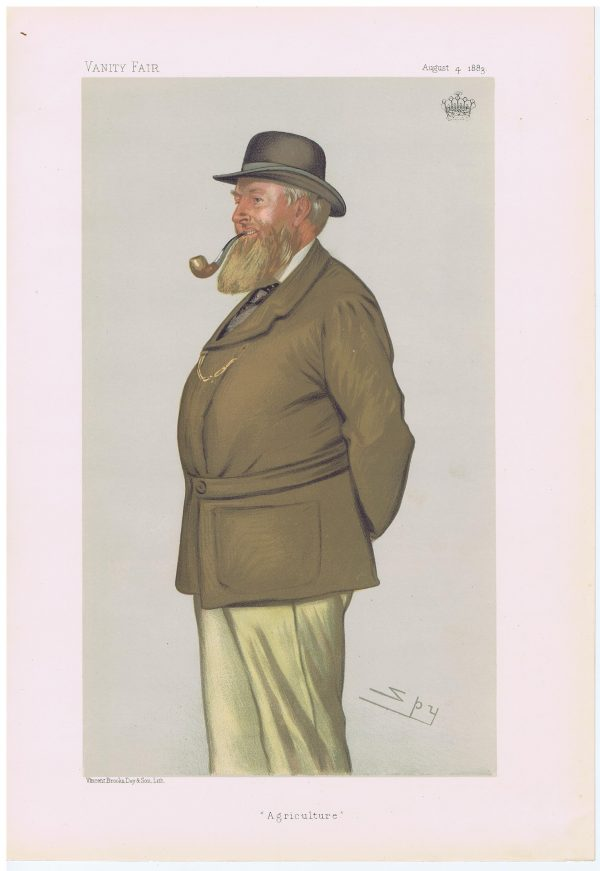 The Earl of Leicester Original Vanity Fair Print