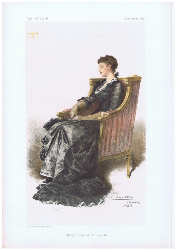 Gladys Countess of Lonsdale Vanity Fair Print