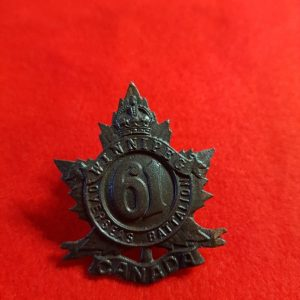 61st WINNIPEG BATTALION Canadian Cap Badge