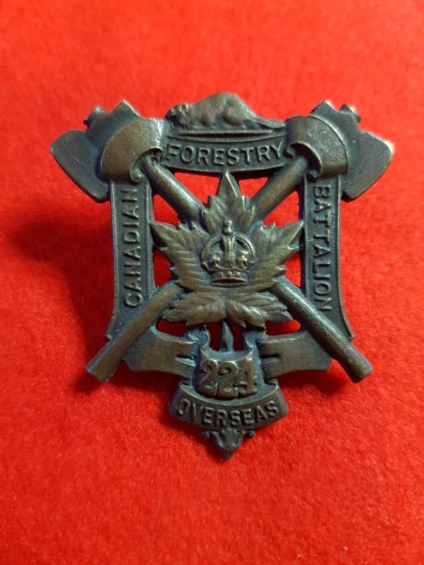 224th Overseas Canadian Forestry Battalion Cap Badge