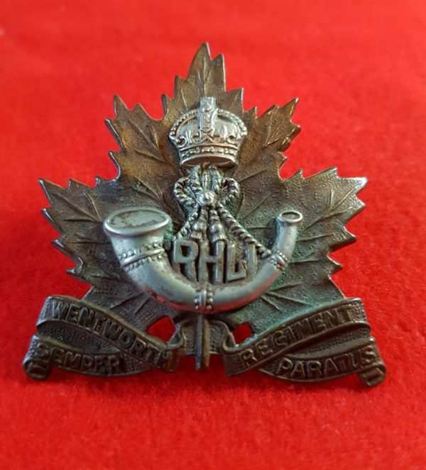 Wentworth Regiment Canadian Cap Badge