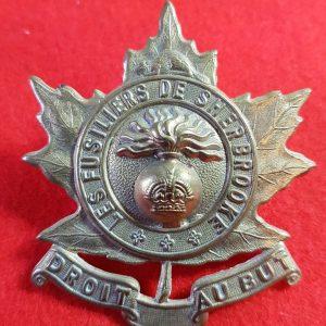 Les Fusiliers de Sherbrooke Cap Badge