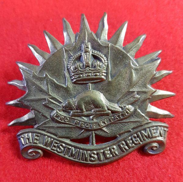 The Westminster Regiment Cap Badge