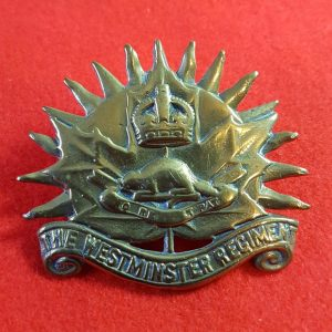 Canadian The Westminster Regiment Cap Badge