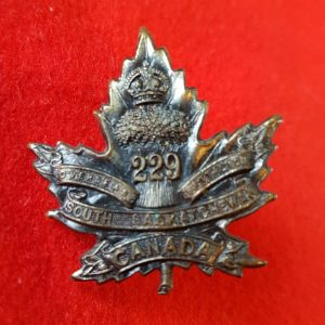 229th South Saskatchewan Regiment Collar Badge