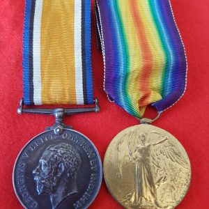 Great War Medal Pair to Suffolk Regiment