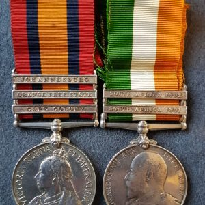 South Wales BorderersBoer War Medal Pair