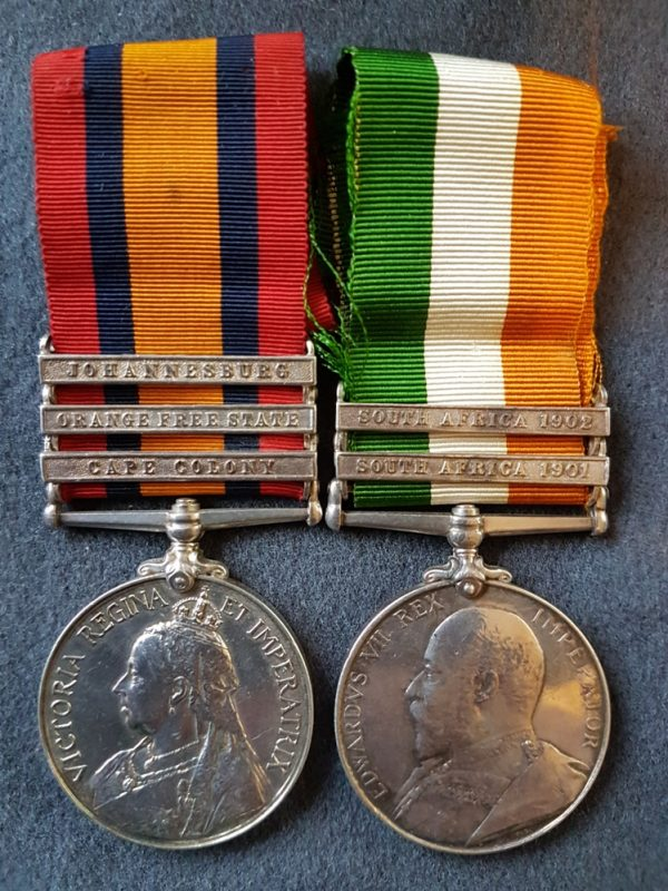 South Wales Borderers Boer War Medal Pair