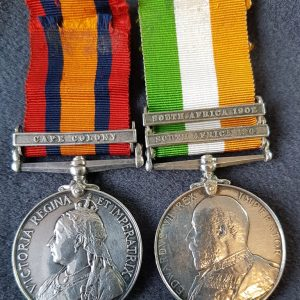 Cheshire Regiment Boer War Medal Pair