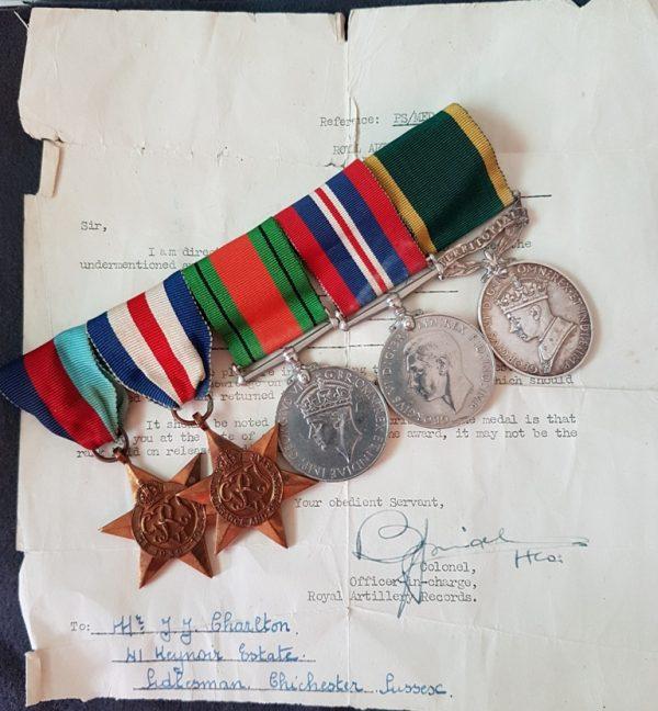 Territorial Efficiency Medal, Sidlesham, Chichester West Sussex Recipient