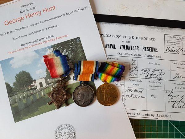 Hawke Battalion Casualty Great War Medal Trio
