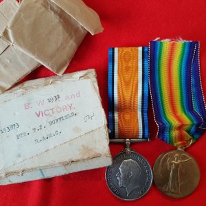 Sussex Man's Medical Corps Great War Medal Pair