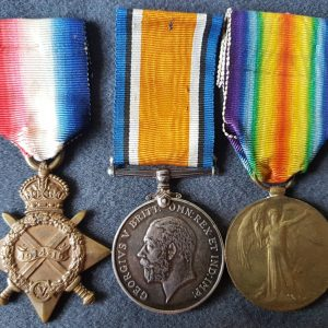 Hawke Battalion Twice Wounded First World War Medals