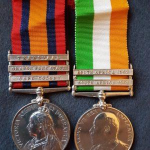 Royal Berkshire Regiment Boer War Medal Pair