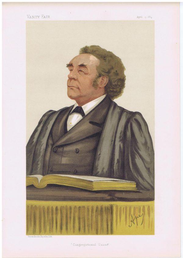 Reverend Joseph Parker Vanity Fair Print