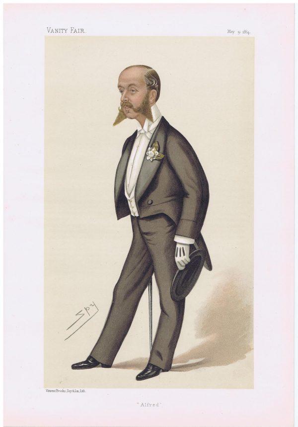 Alfred De Rothschild Vanity Fair Print