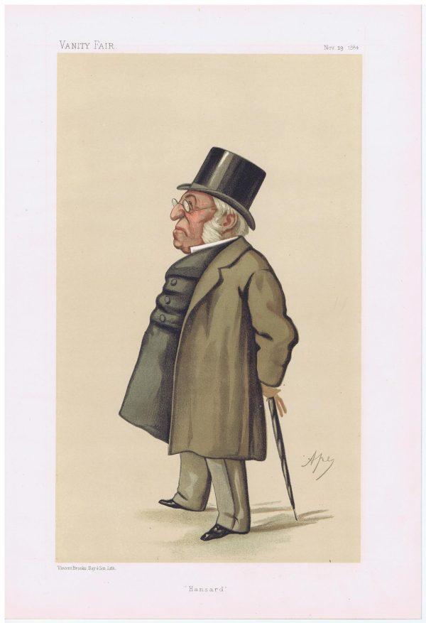 Henry Hansard Vanity Fair Print