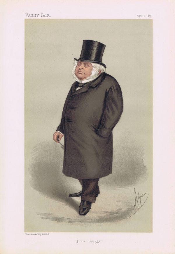 John Bright Original Vanity Fair Print