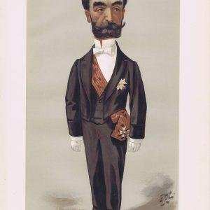 Marie Francois Sadi Carnot Vanity Fair Print 1889