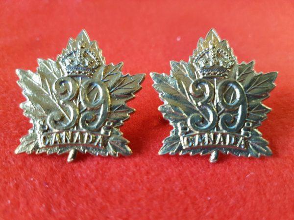CANADIAN ARMY 39TH INFANTRY BATTALION