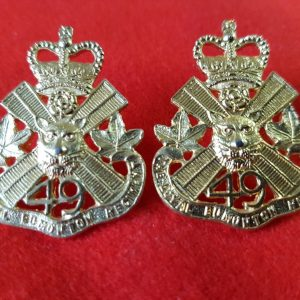 49th Loyal Edmonton Regiment Collar Badge Pair