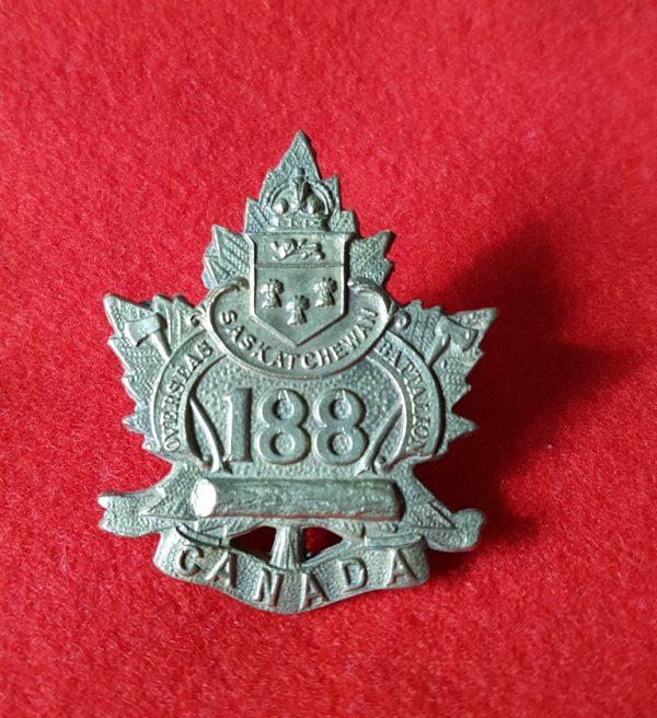 SASKATCHEWAN OVERSEAS BATTALION Cap Badge