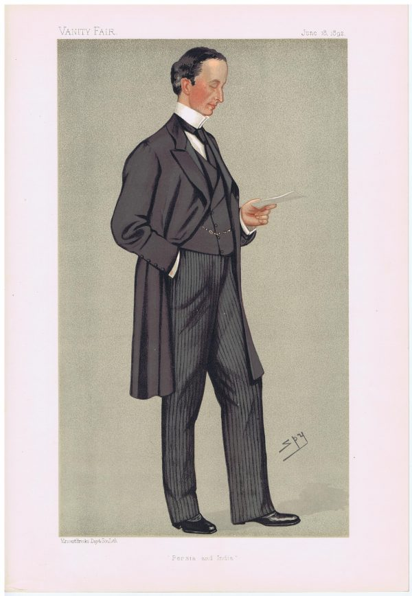 George Nathaniel Curzon Vanity Fair Print