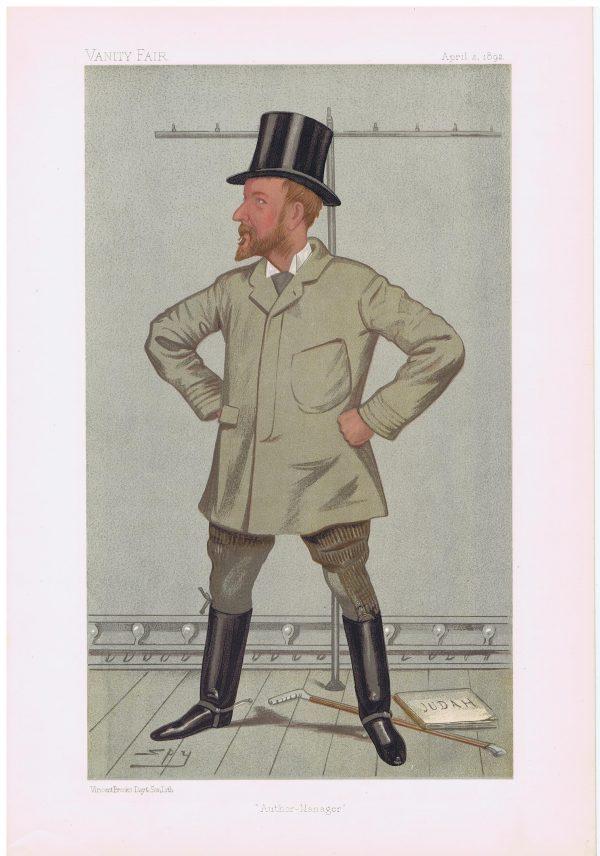 Henry Arthur Jones Vanity Fair Print