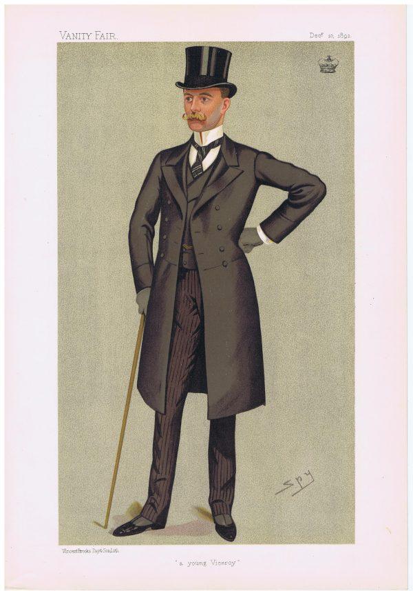 Lord Houghton Vanity Fair Print