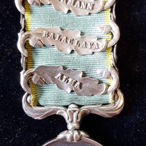 Crimea Medal Alma, Balaklava, Inkerman, Sebastopol clasps