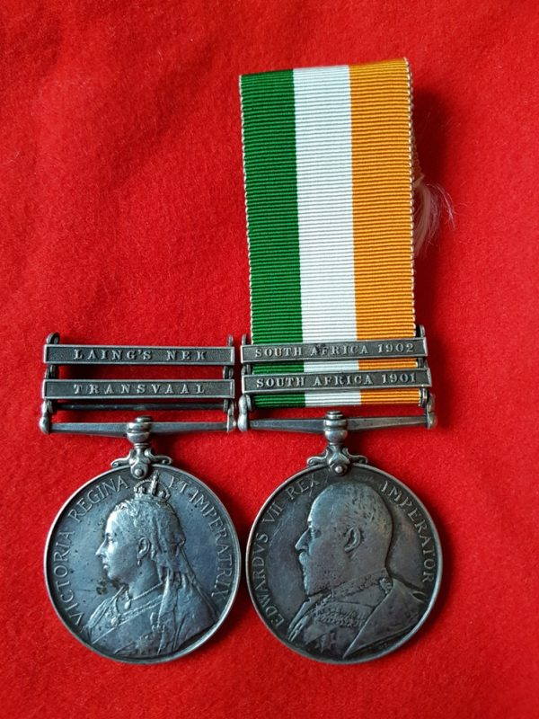 Scottish Rifles Anglo Boer War Medal Pair