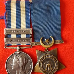 Royal Berkshire Regiment Egypt Medal Pair