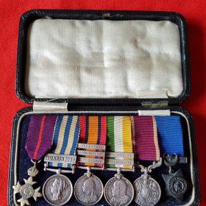 Victorian Campaigns Miniature Medal set