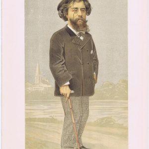 Alphonse Daudet Vanity Fair Print