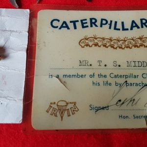 Caterpillar Club Badge