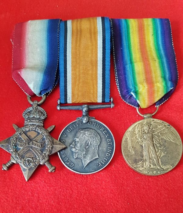 Low Number Great War Medal Trio
