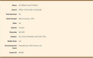 Officer of the Order of Australia