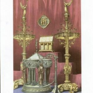 Bronze Font & Candleabra by Bachelet of Paris