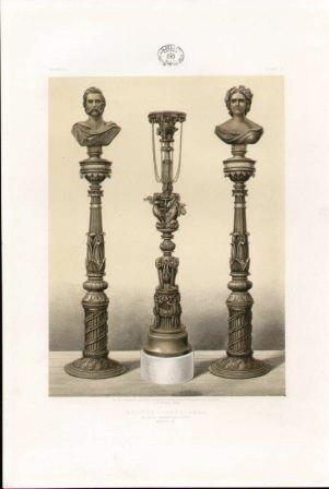 Bronze Candelabra by Royal Manufactory Berlin