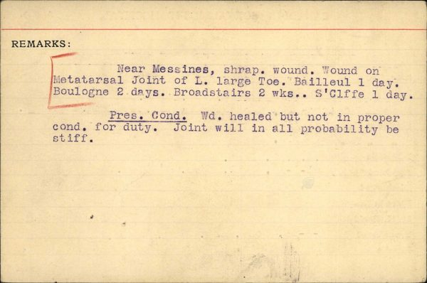 Wounded at Messine
